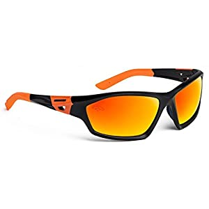 Officially Licensed NFL Sunglasses, Denver Broncos, 3D Logo on Temple - 100% UVA, UVB & UVC Protection