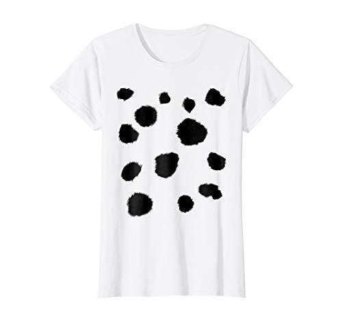 Womens Dalmatian Dog and Holy Cow Halloween Costume T-shirt Medium White -