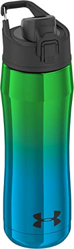 Under Armour Chrome Beyond 18 Ounce Vacuum Insulated Stainless Steel Water, Blue/Green Hydration Bottle