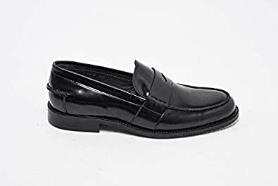 Konfidenz patent leather penny loafers for men