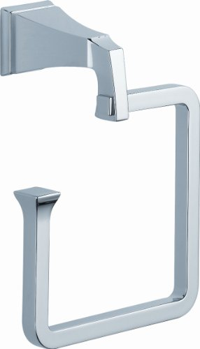 Delta Faucet 128886 Dryden Towel Ring, Polished Chrome by DELTA FAUCET