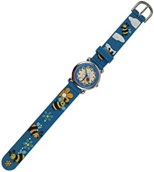 Geneva Kids Wristwatch, Honey Bee, In Gift Box, Blue