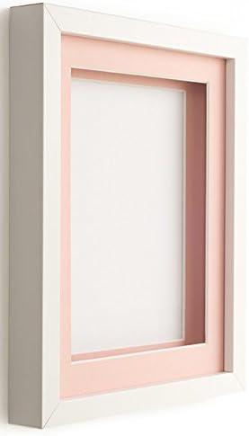 Caja blanca con marco negro para pantalla plana por marco Company ...