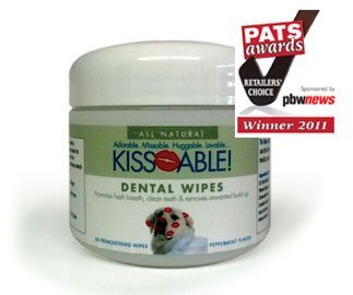KissAble Doggie Dental Wipes Peppermint flavor (CA1076) -