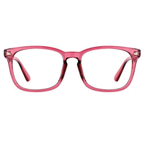 TIJN Blue Light Blocking Glasses Square Nerd Eyeglasses Frame Anti Blue Ray Computer Game Glasses ()