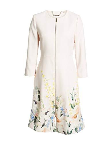 Ted Baker Luluuu Elegant Textured Dress Coat (4, Nude Pink)