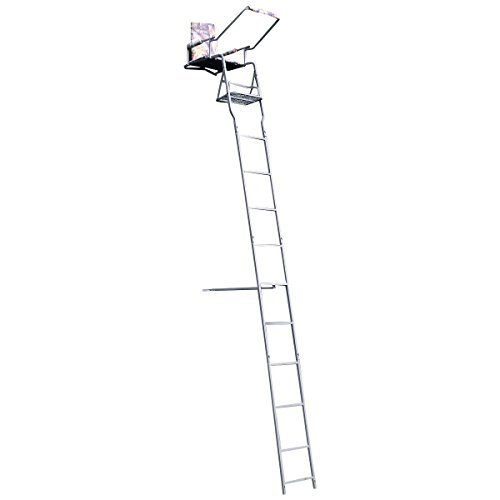 16' Ladder Treestand - Tangkula 16' Deluxe Hunting Ladder Stand Tree Stand Safety Harness Seat Cushion TreeStand