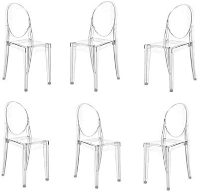 Anaelle Panana Lot de 6 Ghost Chaises en Acrylique