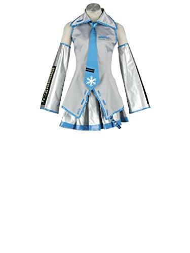 Mtxc Women's Vocaloid Cosplay Costume Snow Hatsune Miku Size XXXL-Plus Grey]()