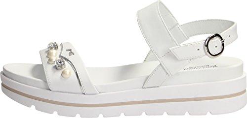 Con Blanco Zapatos Correa Mujer Nero Giardini qtwPq1