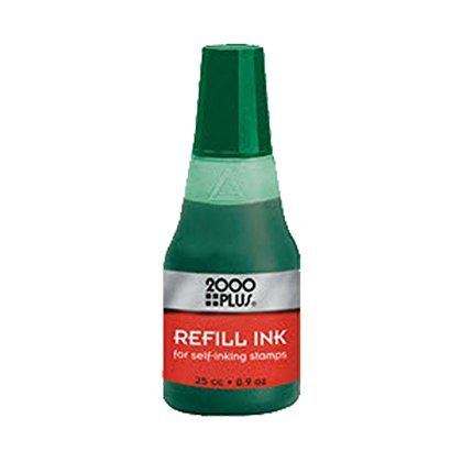 GREEN water based Re-fill Ink for Cosco 2000 Plus Self-Inking Stamp refill 25cc`