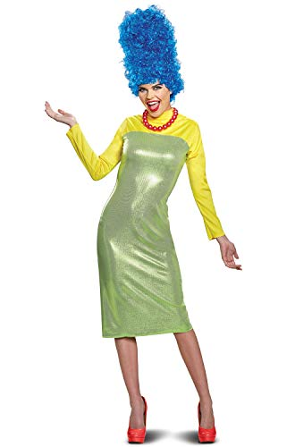 Disguise Women's New Marge Deluxe Adult Costume, Green S (4-6)