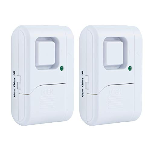 (GE Personal Security Window/Door Alarm, 2-Pack, DIY Home Protection, Burglar Alert, Wireless Alarm, Off/Chime/Alarm, Easy Installation, Ideal for Home, Garage, Apartment, Dorm, RV and Office, 45115 )