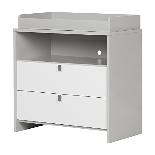 South Shore Cookie Changing Table, Soft Gray and Pure White by South Shore