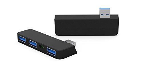 Juiced Systems Microsoft Surface Pro 3 - USB HUB Adapter : 3x USB 3.0 Ports - 1x Micro USB Input