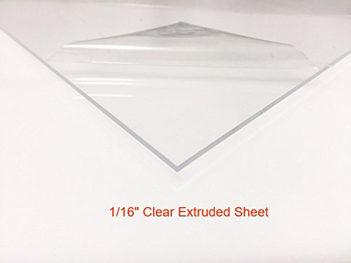 """Clear Acrylic Plexiglass Sheet, 1/16"""" Thick Extruded, 18"""" x 24"""""""