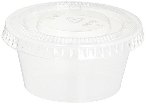 TashiBox Plastic Jello Shot Cups with Lids, 2-Ounce, 200 Sets