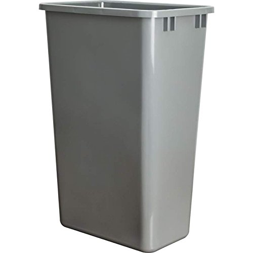 Hardware Resources CAN-50GRY Plastic Waste Container, Gray