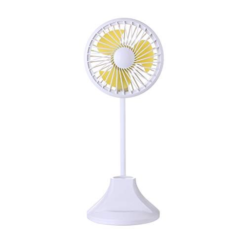OrchidAmor LED Light Clip On Fan Mini Flexible Stand Portable Rechargeable USB Fan Lamp 2019 New ()