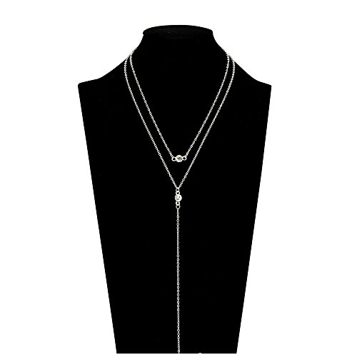 layered-chocker-necklace-pendant-chain-long-necklace-for-women-b-silver