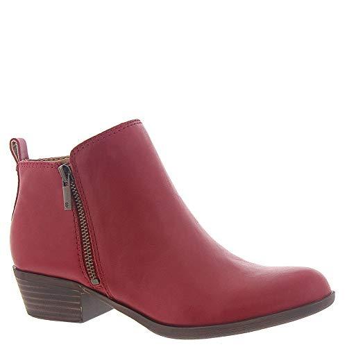 Lucky Brand Women's Basel Ankle Boot, Garnet, 8 M US