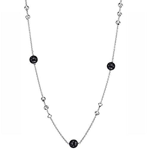Di MODOLO Icona Sterling Silver 32'' Necklace with Black Onyx by Di MODOLO MILANO