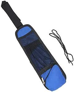 حقيبة تخزين جانبية متعددة الوظائف للسيارة حقيبة تخزين خلفية مقعد السيارة حقيبة تخزين السيارة زرقاء