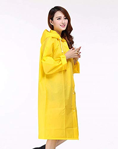 Veste Des À Femmes De Pluie Extérieure Cordon Tranchée Capuche Couleur Imperméable Avec Mode Manteau Casual Dame Gelb Unie qEqArUw