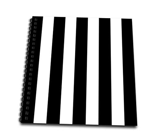 3dRose db_161541_3 Black and White Stripes Pattern - Vertical Striped Stripy Stripey Stripe Retro Traditional Classic - Mini Notepad, 4 by 4