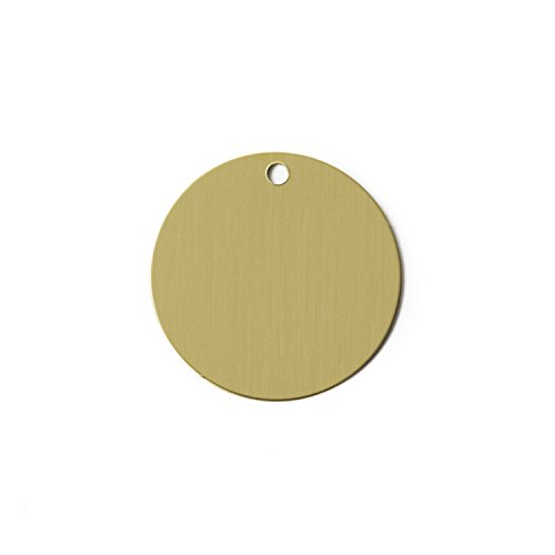 (RMP Stamping Blanks, 1 Inch Round with One Hole, Brass 0.032 Inch (20 Ga.) - 20 Pack)