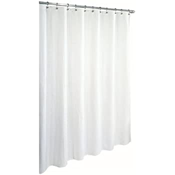 Ex-Cell Home Fashions By Appointment Waffle Weave Cotton Shower Curtain,  White