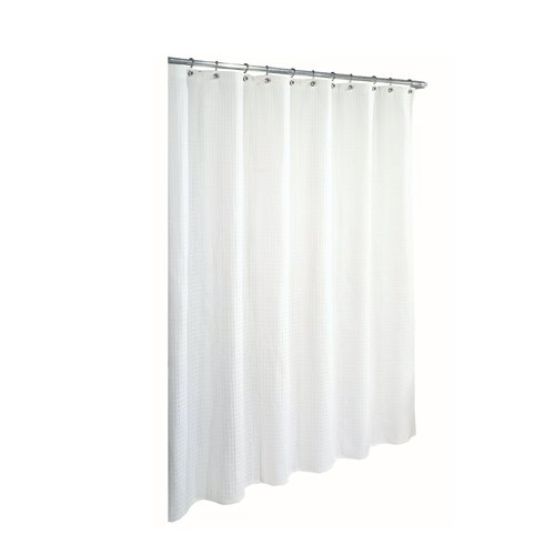 Amazon Ex Cell Home Fashions By Appointment Waffle Weave Cotton Shower Curtain White Kitchen
