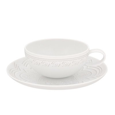 Ornament Tea Cup and Saucer [Set of 4]