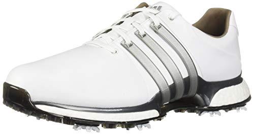 adidas Men's TOUR360 XT Golf Shoe, FTWR White Dark Silver/Metallic, 10.5 W US