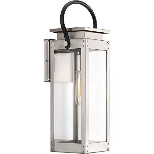 Progress Lighting P560005-135 Union Square One-Light Medium Wall Lantern, Stainless Steel ()