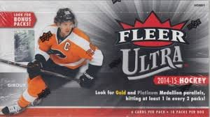 2014/15 Upper Deck Fleer Ultra Hockey box (18 pk HOBBY) (Hobby Fleer Ultra Cards Hockey)