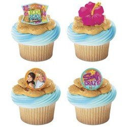 12 Teen Beach Movie Summer Fun Plastic Cupcake Rings Party Favors Cake Toppers, Baby & Kids Zone