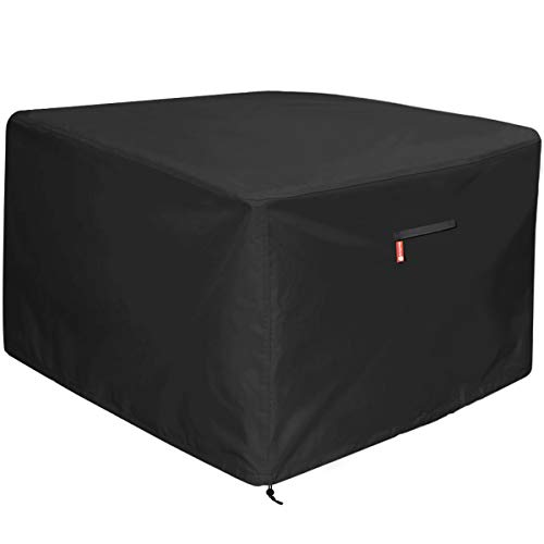 Outdoor Cover Fireplace - Gas Fire Pit Cover Square - Premium Patio Outdoor Cover Heavy Duty Fabric with PVC Coating,100% Waterproof,Fits for 33 inch,34 inch,35 inch,36 inch Fire Pit / Table Cover (36