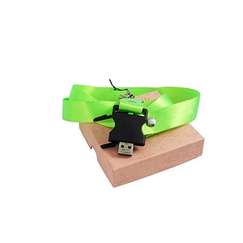 4g Syringe (Lanyard USB Flash drive DIY Hang Rope Lariat Lanyard For Mobile Phone (green, 4G))