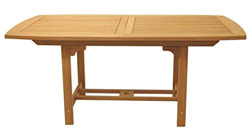 Royal Teak Collection FER6 Rectangular Family Expansion Teak Table, 60/78-Inch