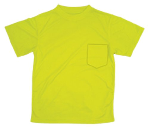 ML Kishigo 9124 Polyester Microfiber Short Sleeve T-Shirt 2X-Large Lime
