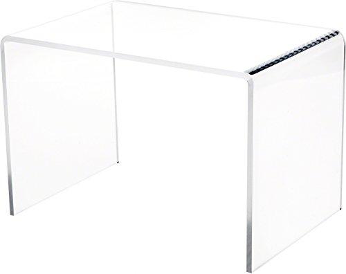 Plymor Brand Clear Acrylic Rectangular Riser, 7