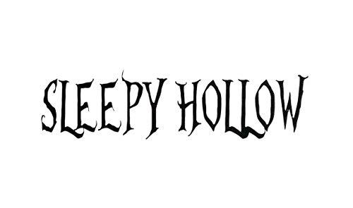 Halloween Sleepy Hollow (CLIFFBENNETT Sleepy Hollow Vinyl Decal Sticker Halloween Decal Sleepy Hollow Word Phrase ? Halloween Decor Halloween)
