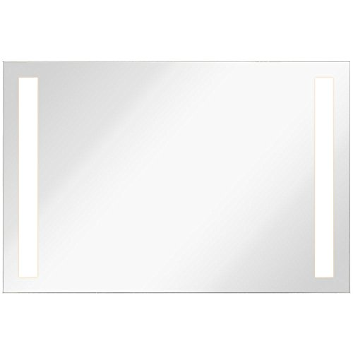 Lighted LED Frameless Backlit Wall Mirror | Polished Edge Silver Backed Illuminated - Commercial White Mirrors Bathroom