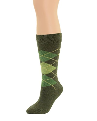 Mens Argyle Dress Socks Wool Cashmere Blend 5 Color Choices Color:: Olive Espresso Wool Cashmere