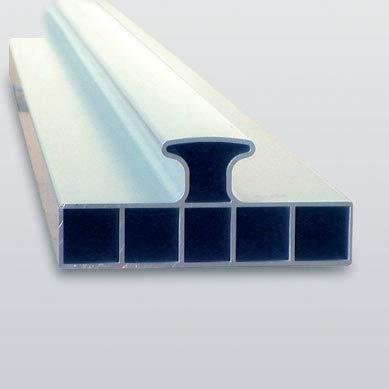 2 St/ück extrem stabiles Mehrkammer Hohlprofil L/änge 200cm Horizontallibelle justierbar natur eloxiert Grundschienensatz Griffmulde zum optimalen Verlegen rabo Trockensch/üttungslehren
