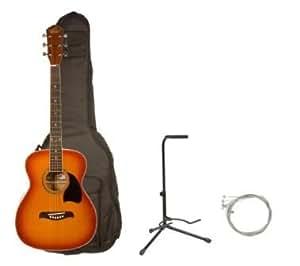 oscar schmidt by washburn og1 3 4 size acoustic guitar combo with ab gig bag stand. Black Bedroom Furniture Sets. Home Design Ideas