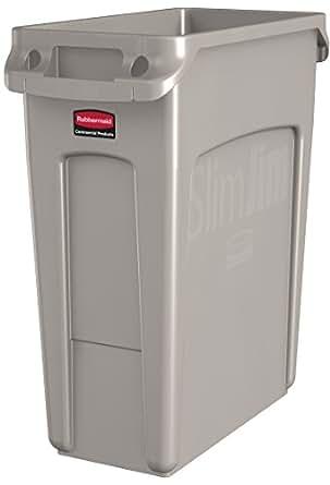 Rubbermaid commercial vented slim jim trash - Commercial bathroom waste receptacles ...