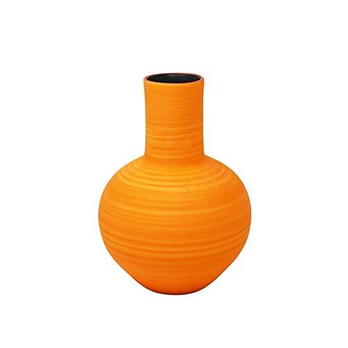 Sagebrook Home Orange Decorative Ceramic Vase, 7