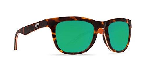 Costa Copra Sunglasses Shiny Retro Tort/Cream/Salmon Green Mirror